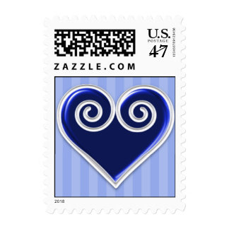 Royal Blue Heart Stamp