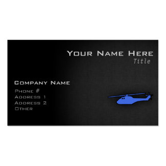 Royal Blue Helicopter Business Card Template