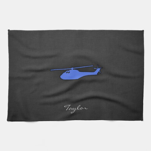 Royal Blue Helicopter Kitchen Towel