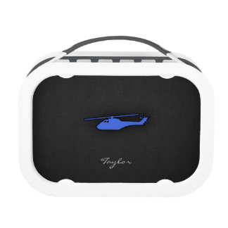 Royal Blue Helicopter Lunchbox