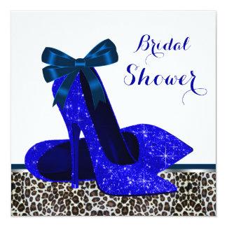 Royal Blue High Heel Bridal Shower Card