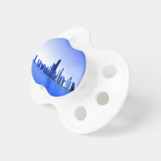 Royal Blue Highlighted Chicago Skyline Pacifier