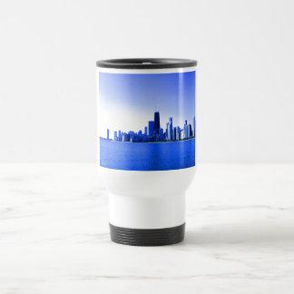 Royal Blue Highlights Chicago Skyline Mugs