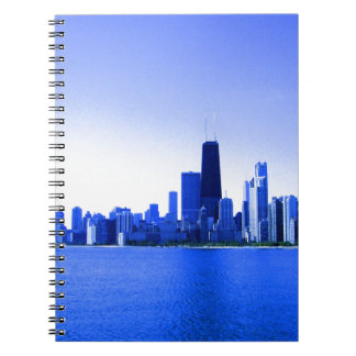 Royal Blue Highlights Chicago Skyline Note Book