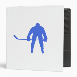 Royal Blue Hockey Binder