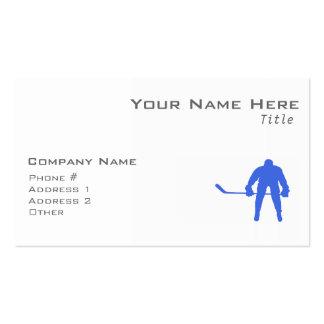 Royal Blue Hockey Business Card