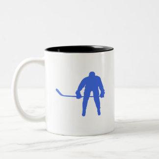 Royal Blue Hockey Coffee Mugs