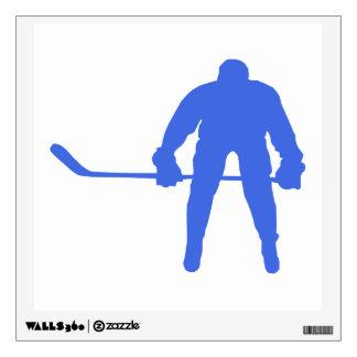 Royal Blue Hockey Wall Stickers