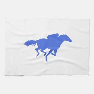 Royal Blue Horse Racing Kitchen Towels