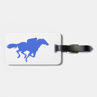 Royal Blue Horse Racing Tags For Luggage