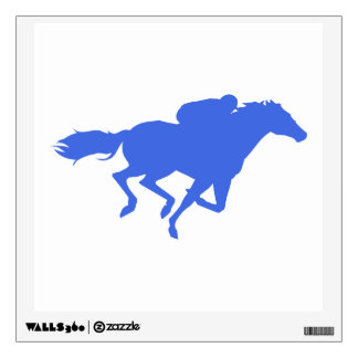 Royal Blue Horse Racing Wall Sticker