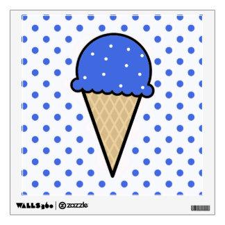Royal Blue Ice Cream Cone Wall Sticker