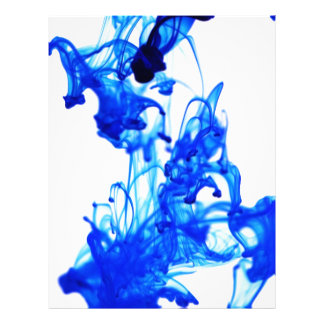 Royal Blue Ink Drop Macro Photography Customized Letterhead