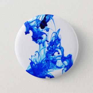 Royal Blue Ink Drop Macro Photography Pinback Button