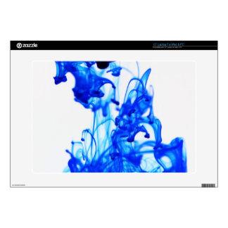 Royal Blue Ink Drop Macro Photography Laptop Decals