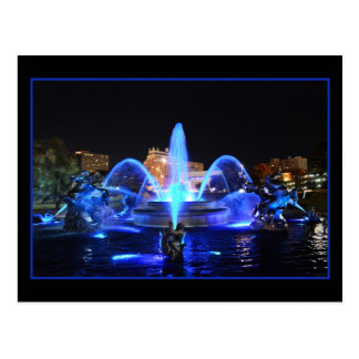 Royal Blue J.C. Nichols Fountain, Kansas City Postcard