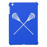Royal Blue Lacrosse Sticks iPad Mini Case