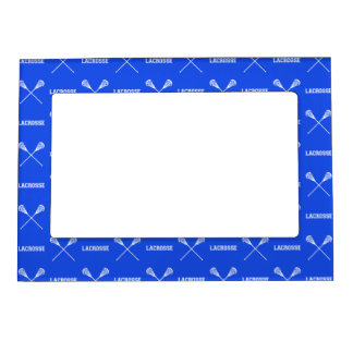 Royal Blue Lacrosse Sticks Magnetic Picture Frame