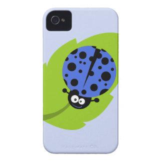 Royal Blue Ladybug iPhone 4 Case-Mate Case