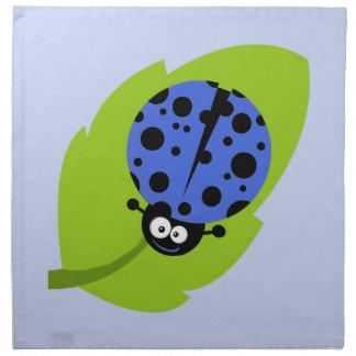 Royal Blue Ladybug Cloth Napkin
