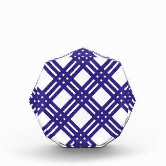 Royal Blue Lattice Acrylic Award