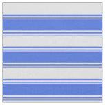 [ Thumbnail: Royal Blue & Lavender Colored Stripes Pattern Fabric ]