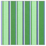 [ Thumbnail: Royal Blue, Lavender, Forest Green, Green & Black Fabric ]