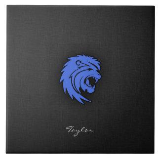 Royal Blue Leo Large Square Tile