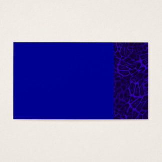 ROYAL BLUE LEOPARD WOBBLE PATTERN BACKGROUNDS WALL BUSINESS CARD