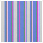[ Thumbnail: Royal Blue, Light Gray, Fuchsia, and Sea Green Fabric ]