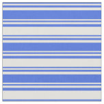 [ Thumbnail: Royal Blue & Light Yellow Colored Stripes Fabric ]