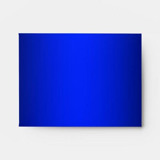 Royal Blue Linen RSVP Envelopes