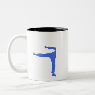 Royal Blue Martial Arts Two-Tone Coffee Mug