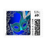 Royal Blue Masquerade Party Postage