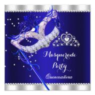Masquerade invitations Mask Party MardiGras