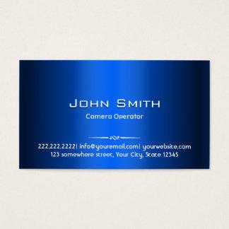 Royal Blue Metal Camera Operator Business Card