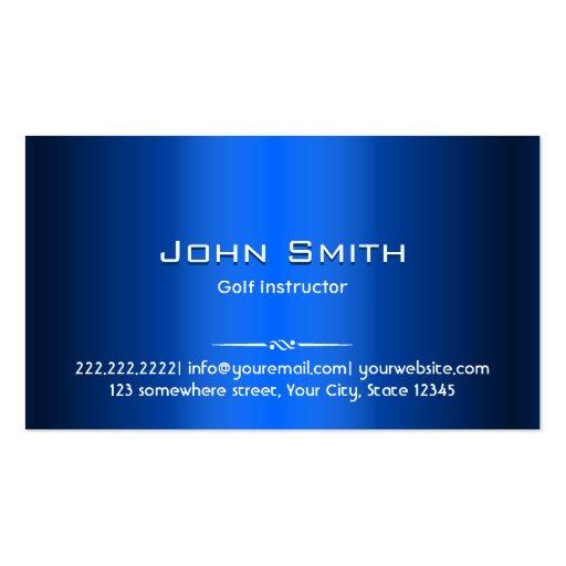 Royal Blue Metal Golf Business Card