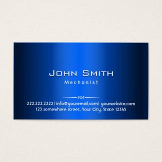 Royal Blue Metal Mechanic Business Card