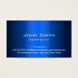 Royal Blue Metal Optometrist Business Card
