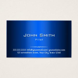 Royal Blue Metal Pilot/Aviator Business Card
