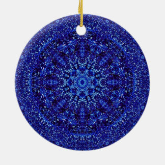 Royal Blue Metallic Ceramic Ornament