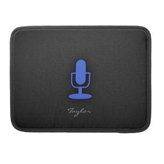 Royal Blue Microphone MacBook Pro Sleeve