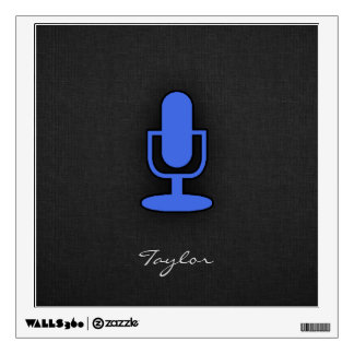 Royal Blue Microphone Wall Decal