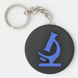 Royal Blue Microscope Keychain
