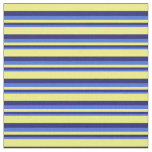 [ Thumbnail: Royal Blue, Midnight Blue & Yellow Pattern Fabric ]