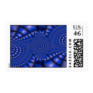 Royal Blue Mosaic Postage