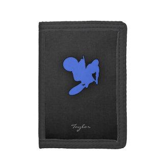 Royal Blue Motocross Tri-fold Wallet