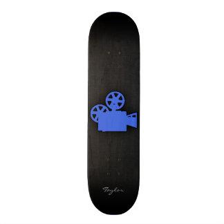 Royal Blue Movie Camera Skate Board Decks