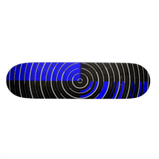 Royal Blue n  Silver  - Enchanting Source Waves Skateboard Deck