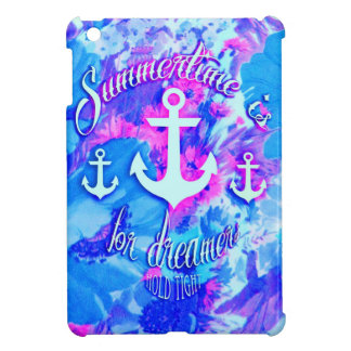 Royal Blue Nautical Poppies Art. iPad Mini Cases